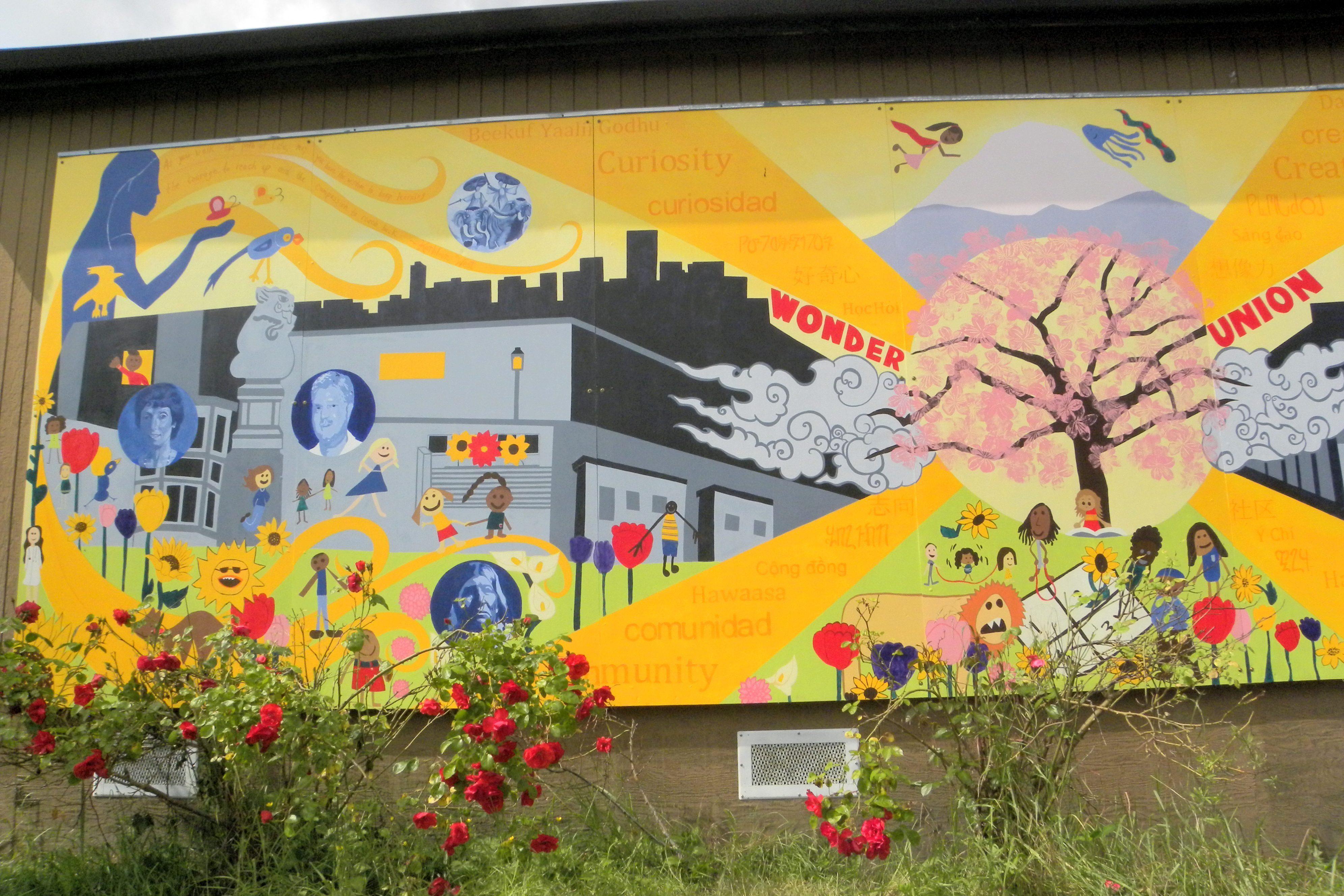 mural01 - Vẽ Tranh Tường Mầm Non Lớp Học