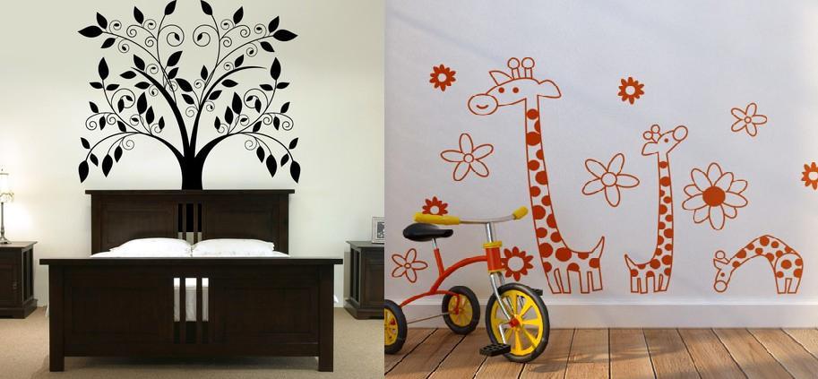 wall decals - Vẽ Tranh Tường Phòng Ngủ