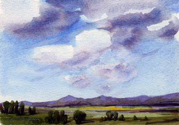 watercolor landscape 4 konnie kim - Lớp Dạy Vẽ Thiếu Nhi