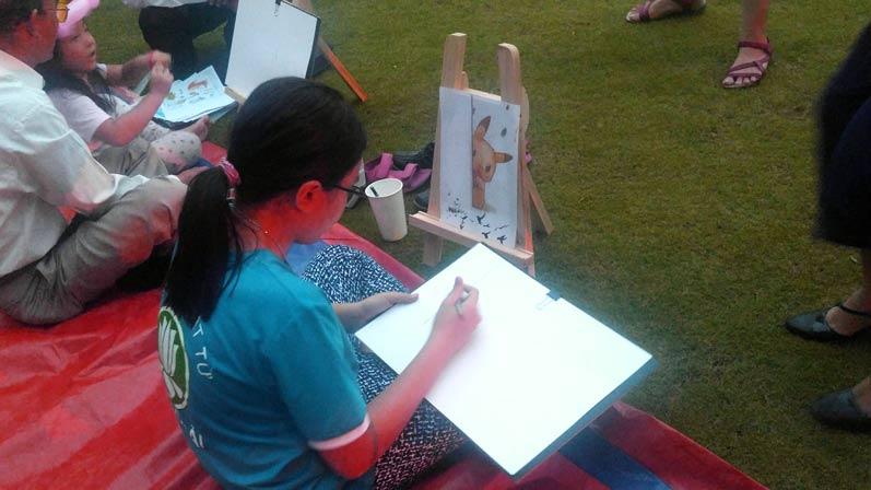 Buổi đi vẽ ở đô thị nghỉ dưỡng đẳng cấp quốc tế Swan Bay 2