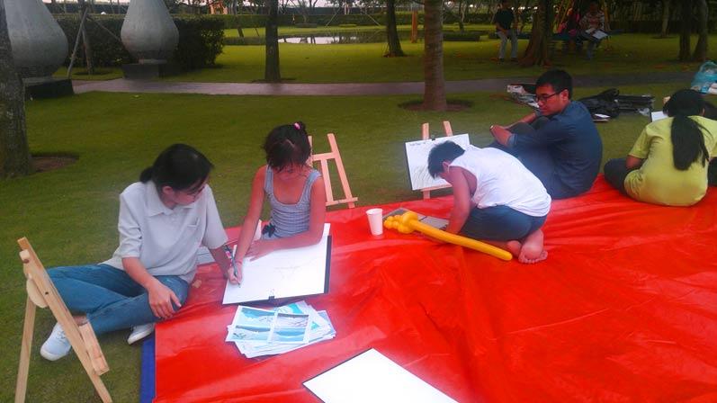 Buổi đi vẽ ở đô thị nghỉ dưỡng đẳng cấp quốc tế Swan Bay 3