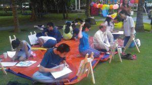 chuong trinh hoc ve thieu nhi 1 300x169 - Buổi đi vẽ ở đô thị nghỉ dưỡng đẳng cấp quốc tế Swan Bay