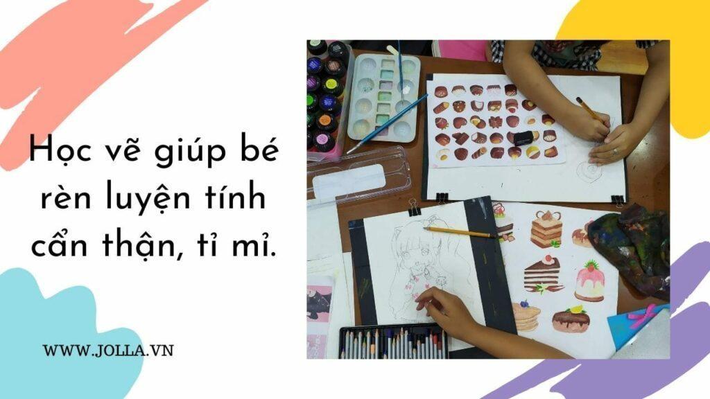 Học vẽ giúp bé rèn luyện tính cẩn thận, tỉ mỉ