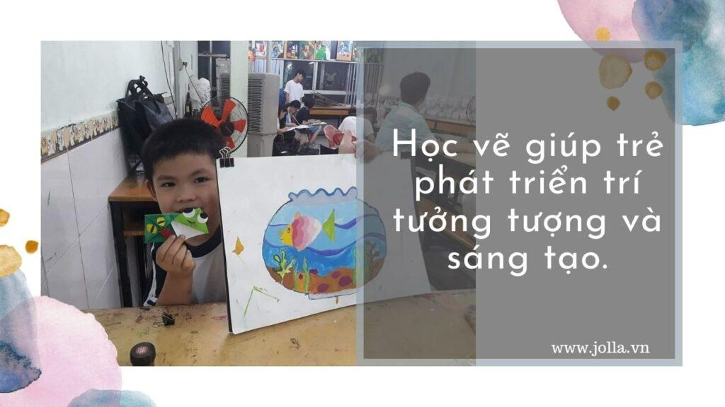 Học vẽ giúp trẻ phát triển trí tưởng tượng và sáng tạo