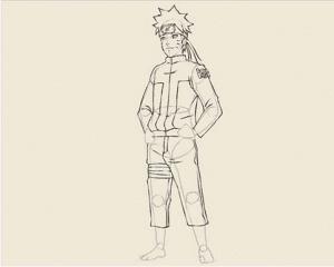 11 1 300x240 - Làm thế nào để vẽ Naruto huyền thoại?