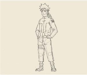 12 300x257 - Làm thế nào để vẽ Naruto huyền thoại?