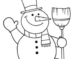 3 2 300x241 - Học vẽ người tuyết vui tươi