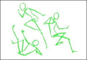 3 300x209 - Phương pháp vẽ người cơ bản