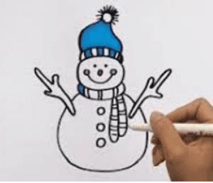 4 1 300x258 - Học vẽ người tuyết vui tươi