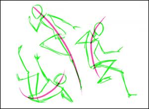 4 300x219 - Phương pháp vẽ người cơ bản
