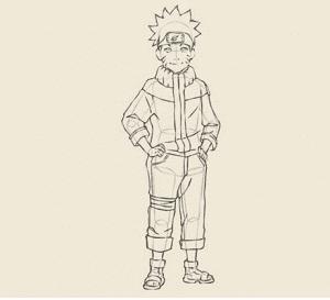 5 3 300x273 - Làm thế nào để vẽ Naruto huyền thoại?