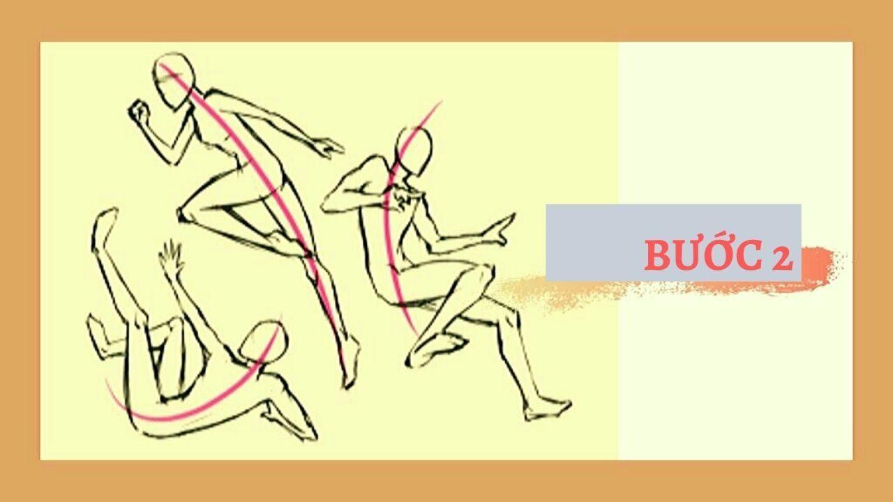 Bước 2 Vẽ tư thế chuyển động