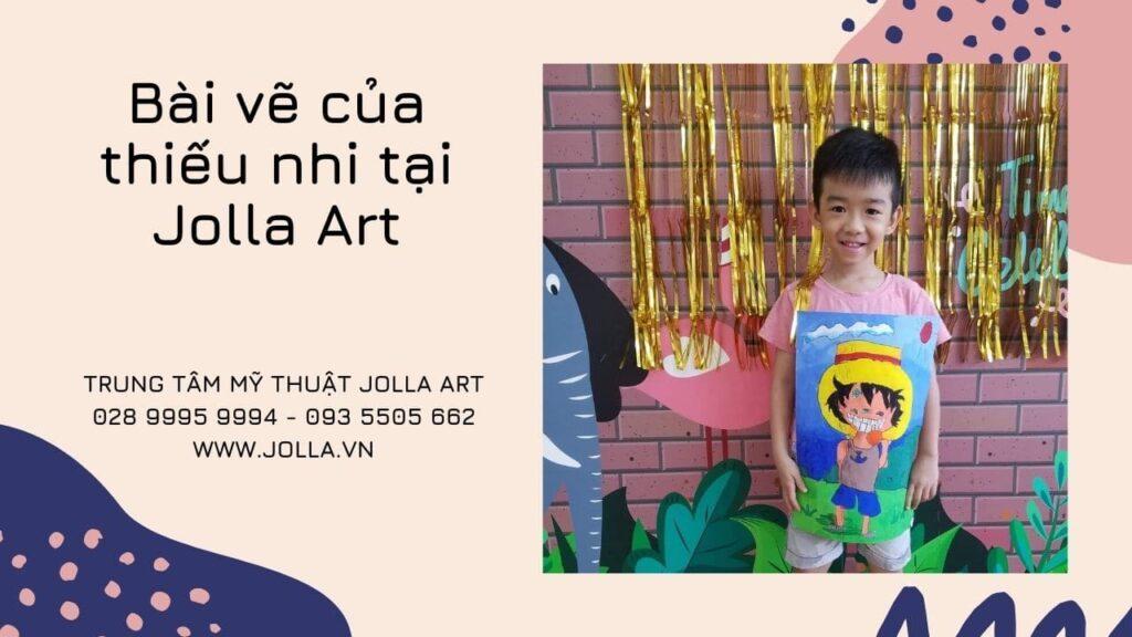 Bài vẽ của thiếu nhi tại Jolla Art