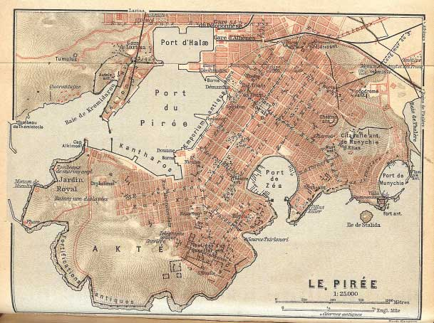 Map-of-Piraeus,-the-port-of-Athens,-showing-the-grid-plan-of-the-city