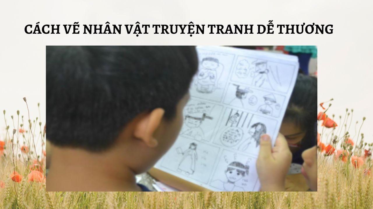 cách vẽ nhân vật truyện tranh dễ thương