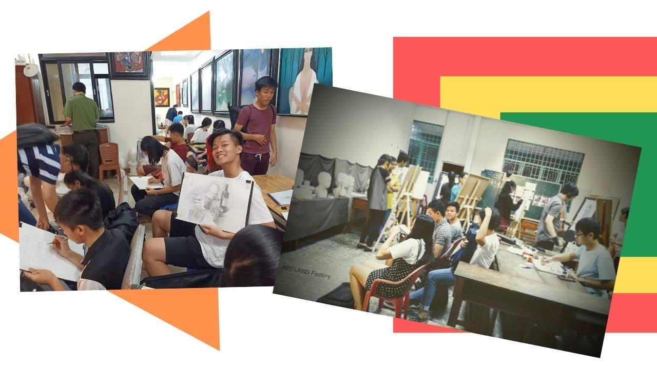 Lớp học luyện thi đại học mỹ thuật tp hcm và học viên của Jolla Art