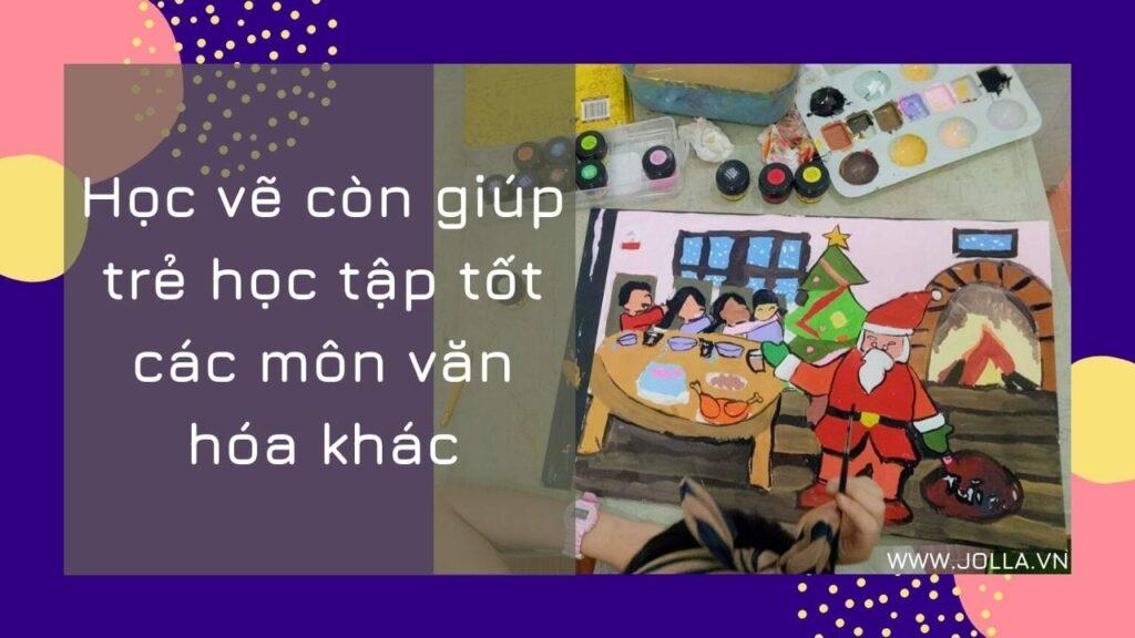 Học vẽ giúp bé học tốt các môn học khác