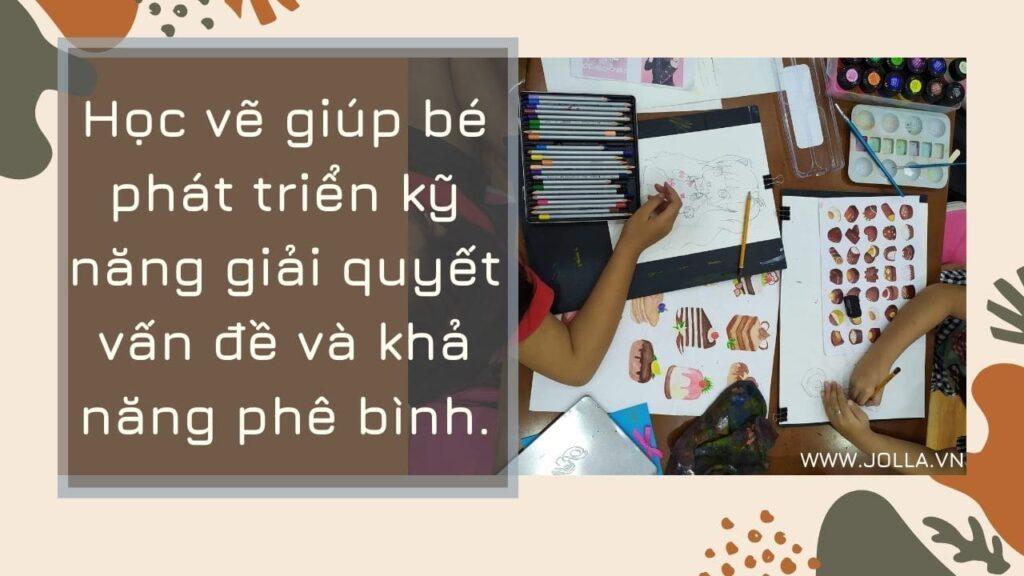 Học vẽ giúp trẻ phát triển kỹ năng giải quyết vấn đề