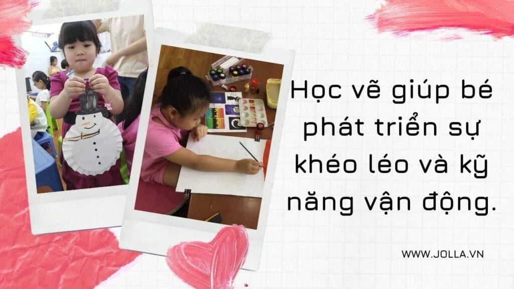 Lớp học vẽ cho bé học vẽ phát triển kỹ năng vận động