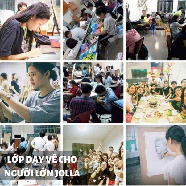 Lớp dạy vẽ cho người lớn Jolla