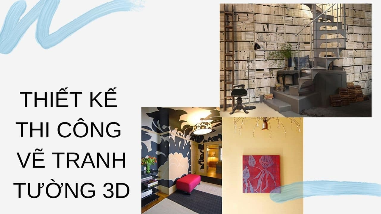 Thiết kế thi công  vẽ tranh tường 3D (nguồn internet)