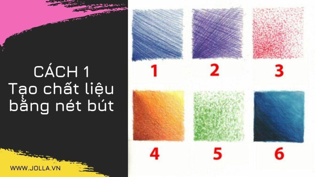Tạo chất liệu bằng nét bút - cách tô màu sáp đẹp