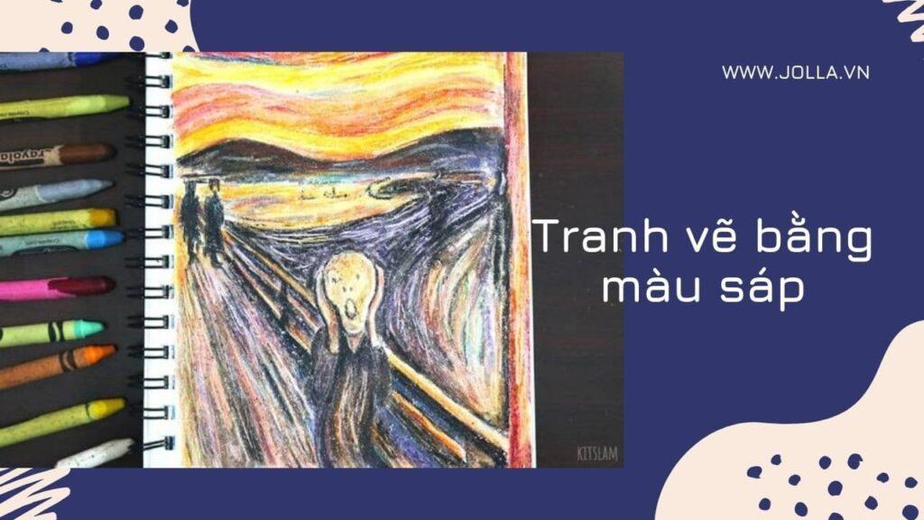 Tranh vẽ bằng màu sáp bởi Edvard Munch - cách tô màu sáp đẹp