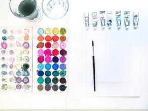 1 12 300x225 - Hướng dẫn những kỹ thuật cần biết khi vẽ tranh màu nước