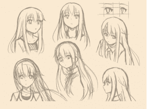 vẽ manga nữ