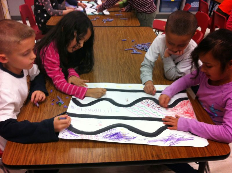 Collaboration Watercolor Paiting Bài học vẽ cơ bản cho trẻ em