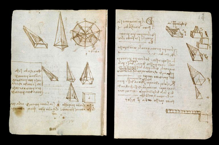 Leonardo-da-Vinci's-Codex-Forster-I-(around-1487-90)-©-V&A-Images