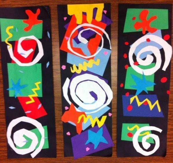 Matisse-Cutouts Bài học vẽ cho trẻ em