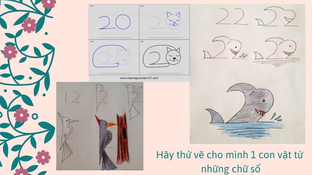 Tại sao bạn không thử vẽ một con vật khác từ những chữ số?