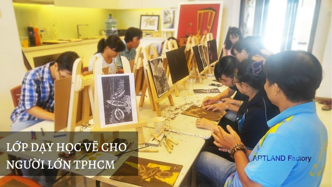 Lớp dạy học vẽ cho người lớn TPHCM