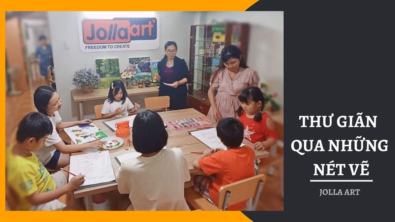 Thư giản giải trí tại lớp dạy học vẽ cho thiếu nhi quận phú nhuận