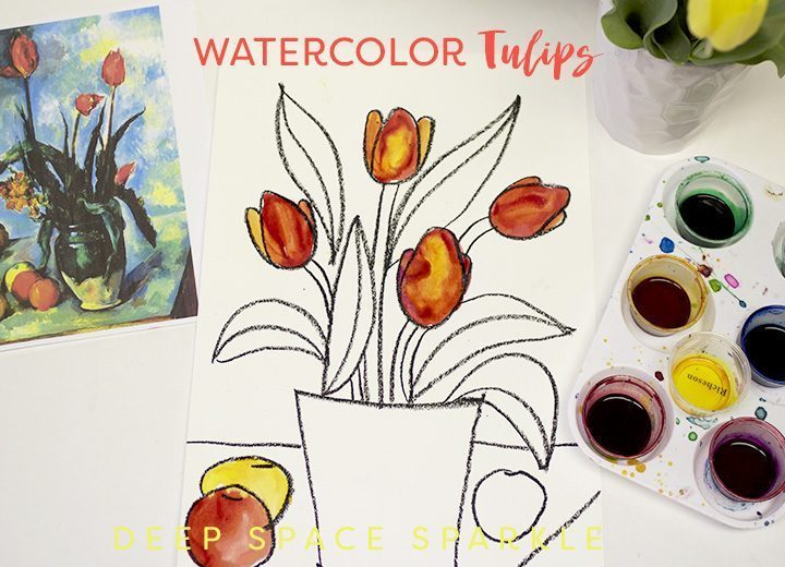 water-color-tulips