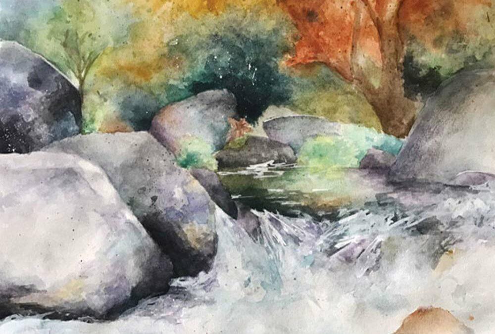 lớp học vẽ màu nước tranh phong cảnh tại quận 7