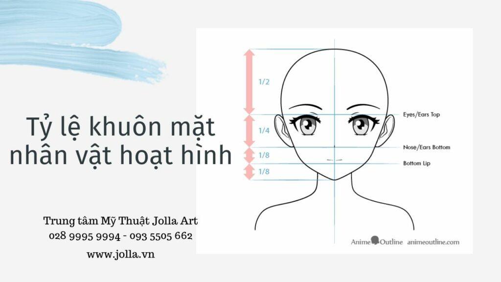 Tỷ lệ khuôn mặt nhân vật hoạt hình - cách vẽ chân dung truyện tranh