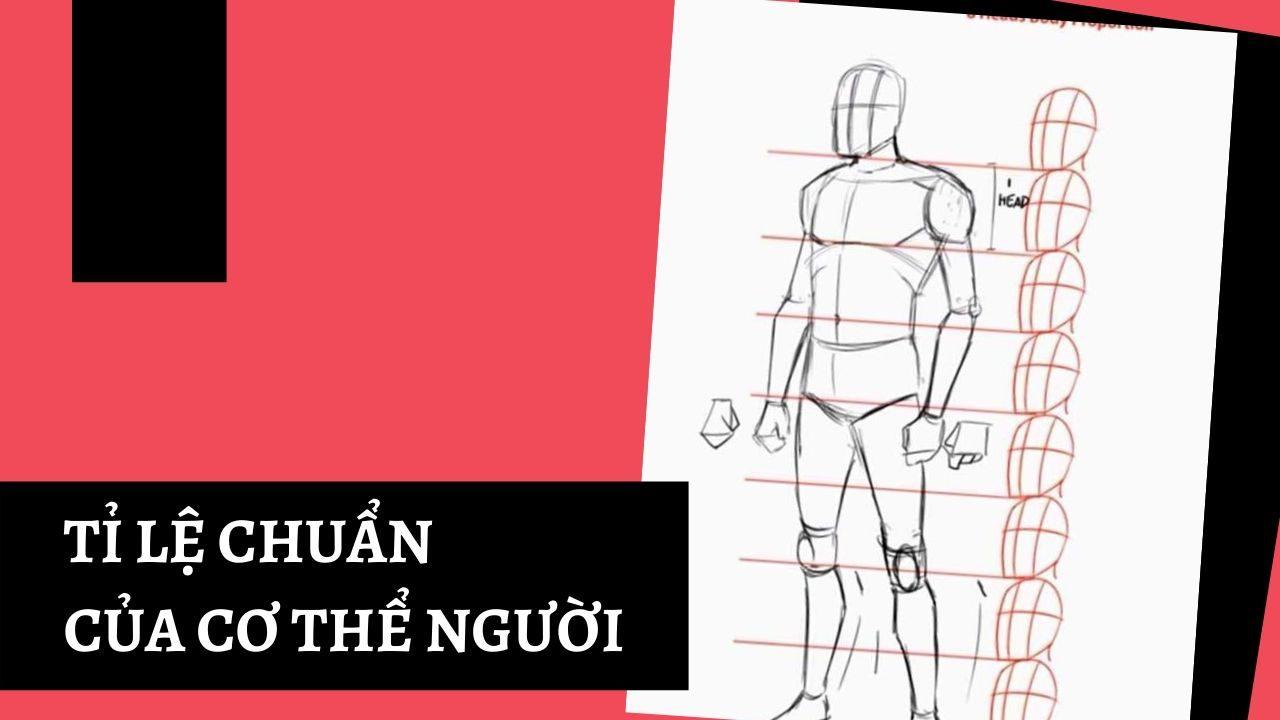 Cách vẽ người trong truyện tranh theo tỷ lệ chuẩn của cơ thể người