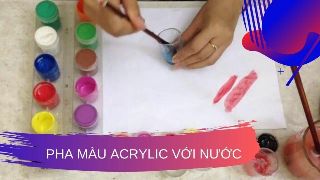 Cách pha màu Acrylic 1