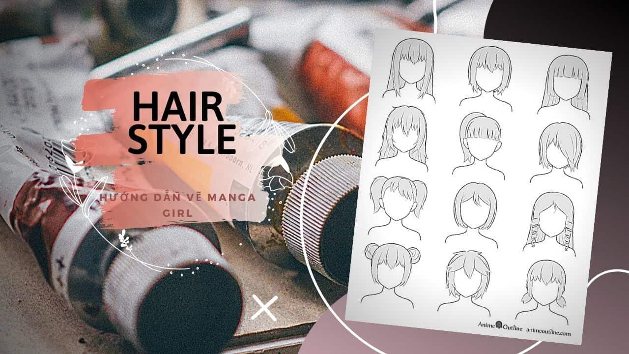 kiểu tóc nữ phổ biến trong manga