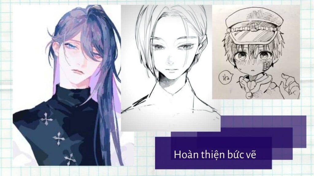 Hướng dẫn vẽ mặt theo phong cách Manga 12