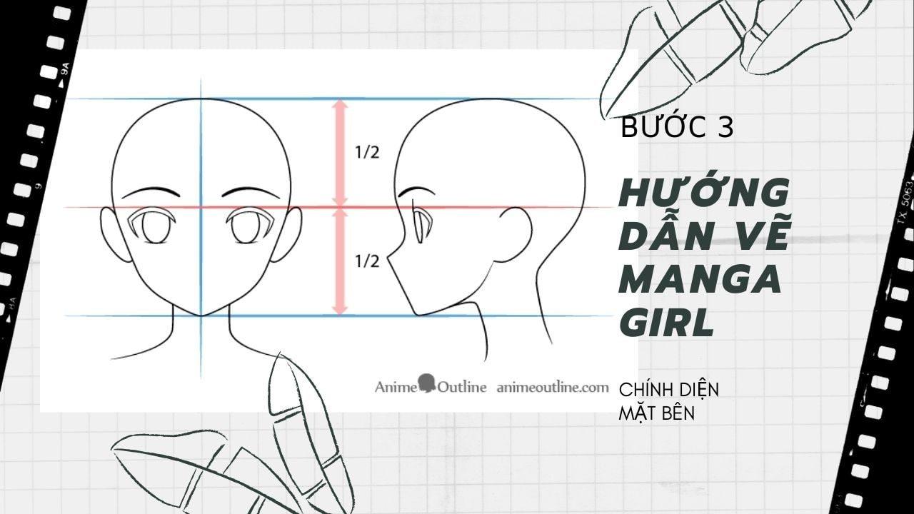 Hướng dẫn vẽ Manga Girl 3