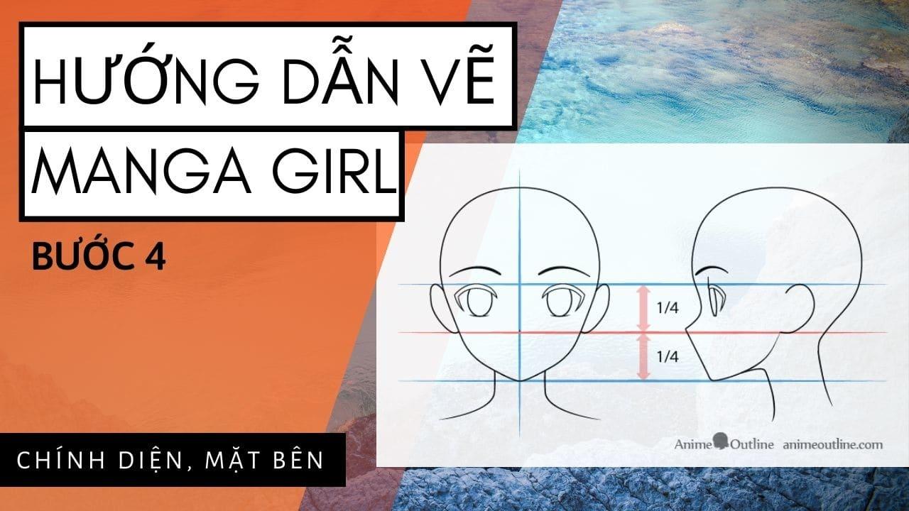 Hướng dẫn vẽ Manga Girl 4