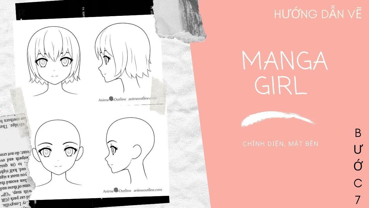 Hướng dẫn vẽ Manga Girl 7