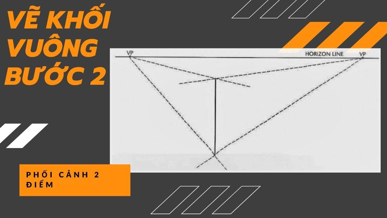 Cách vẽ khối vuông theo phối cảnh 5