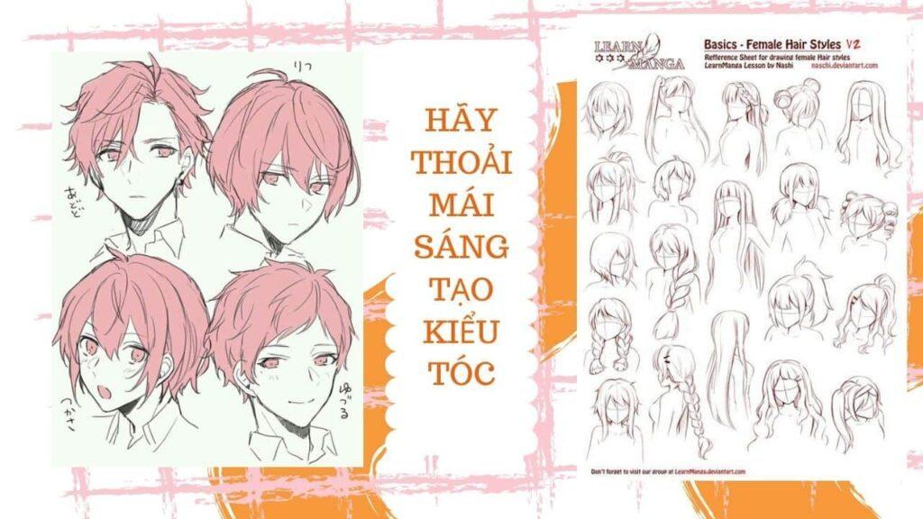 Hướng dẫn vẽ mặt theo phong cách Manga 5