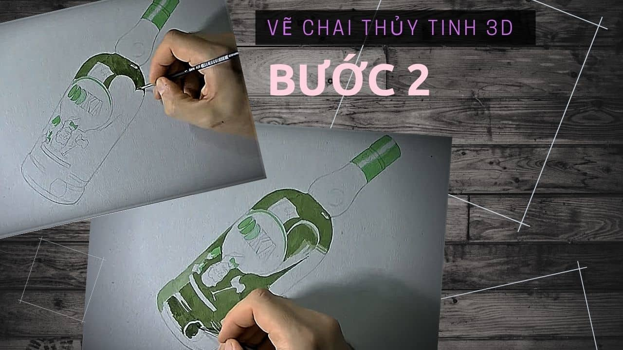 Hướng dẫn vẽ chai Thủy Tinh 3D 6
