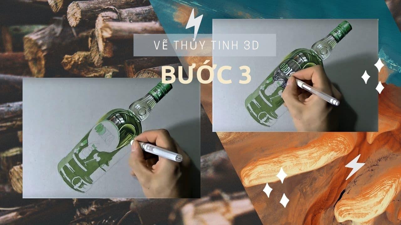 Hướng dẫn vẽ chai Thủy Tinh 3D 7